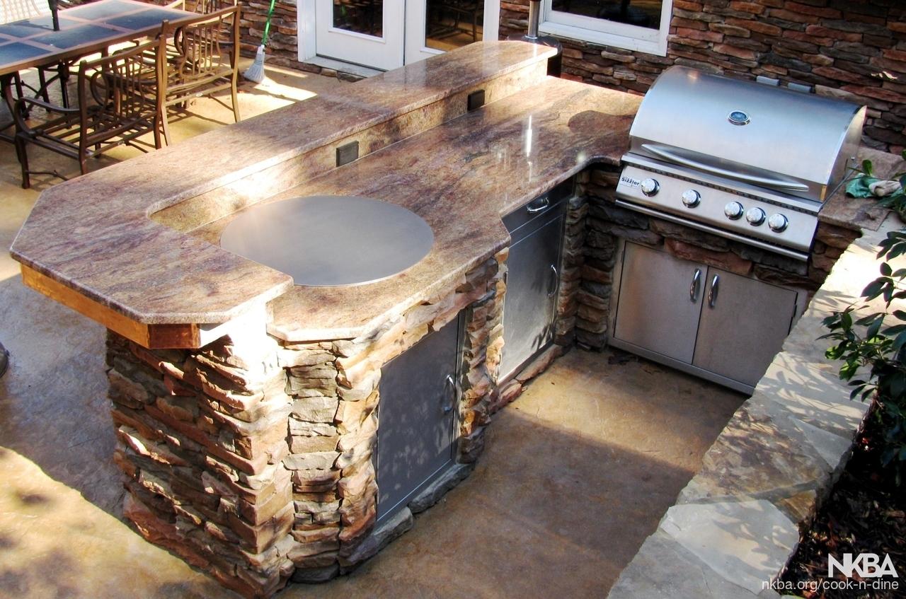 teppanyaki outdoor kitchen island - NKBA