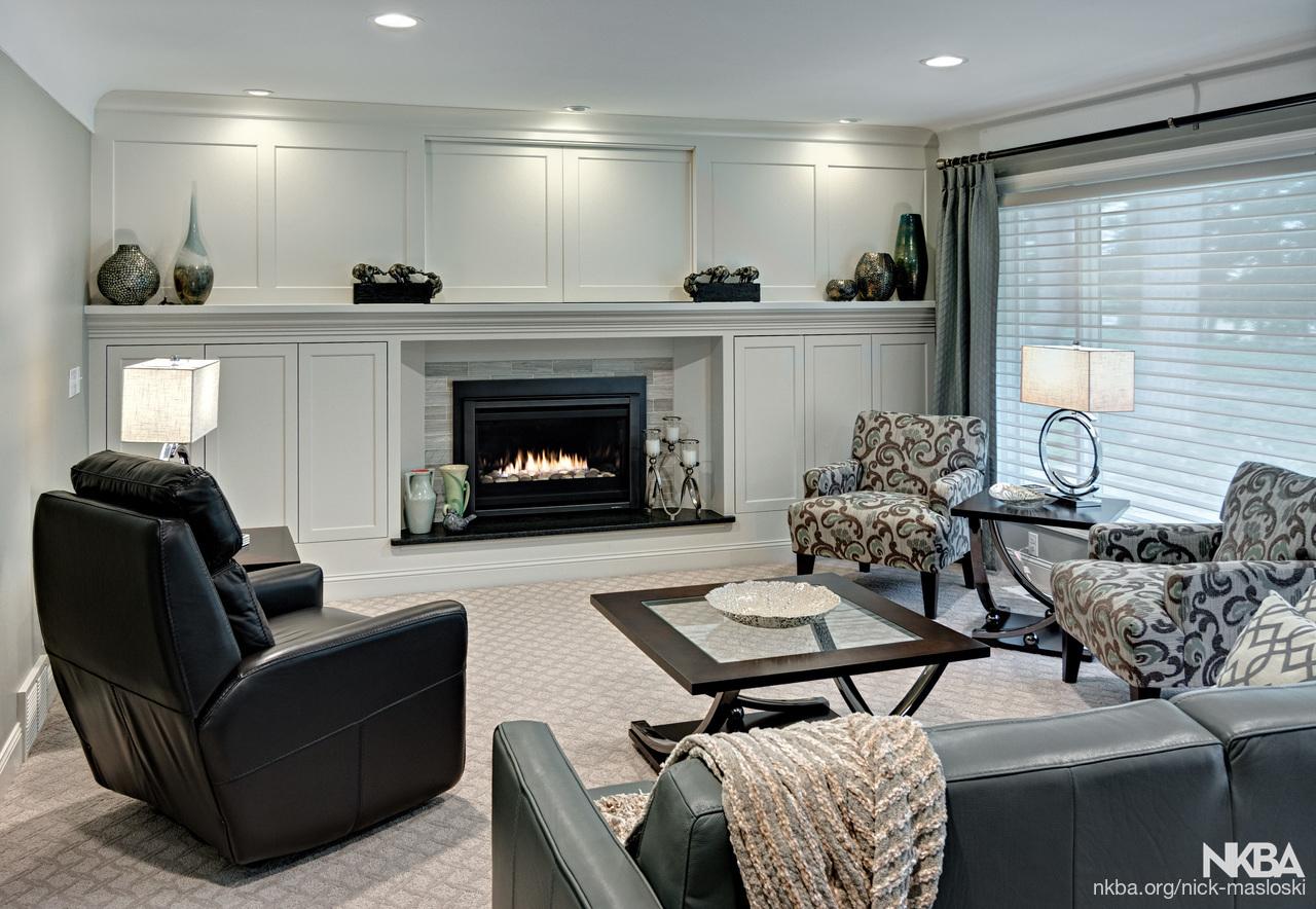 Living Room W Hidden Tv Nkba