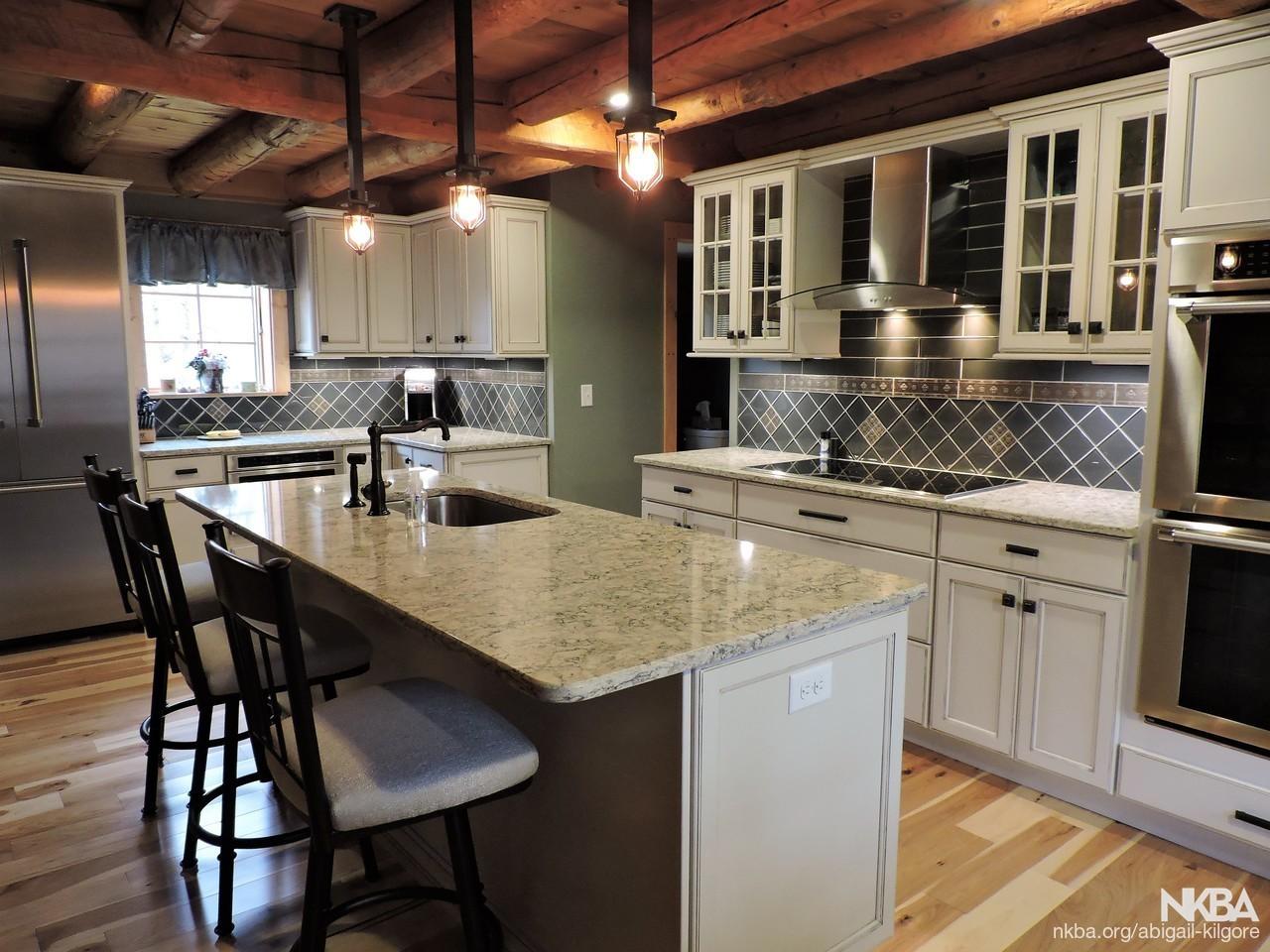 Rustic Elegant Log Cabin Kitchen Eclectic