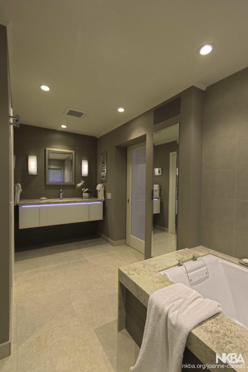 Master Bath With Floating Vanity Nkba