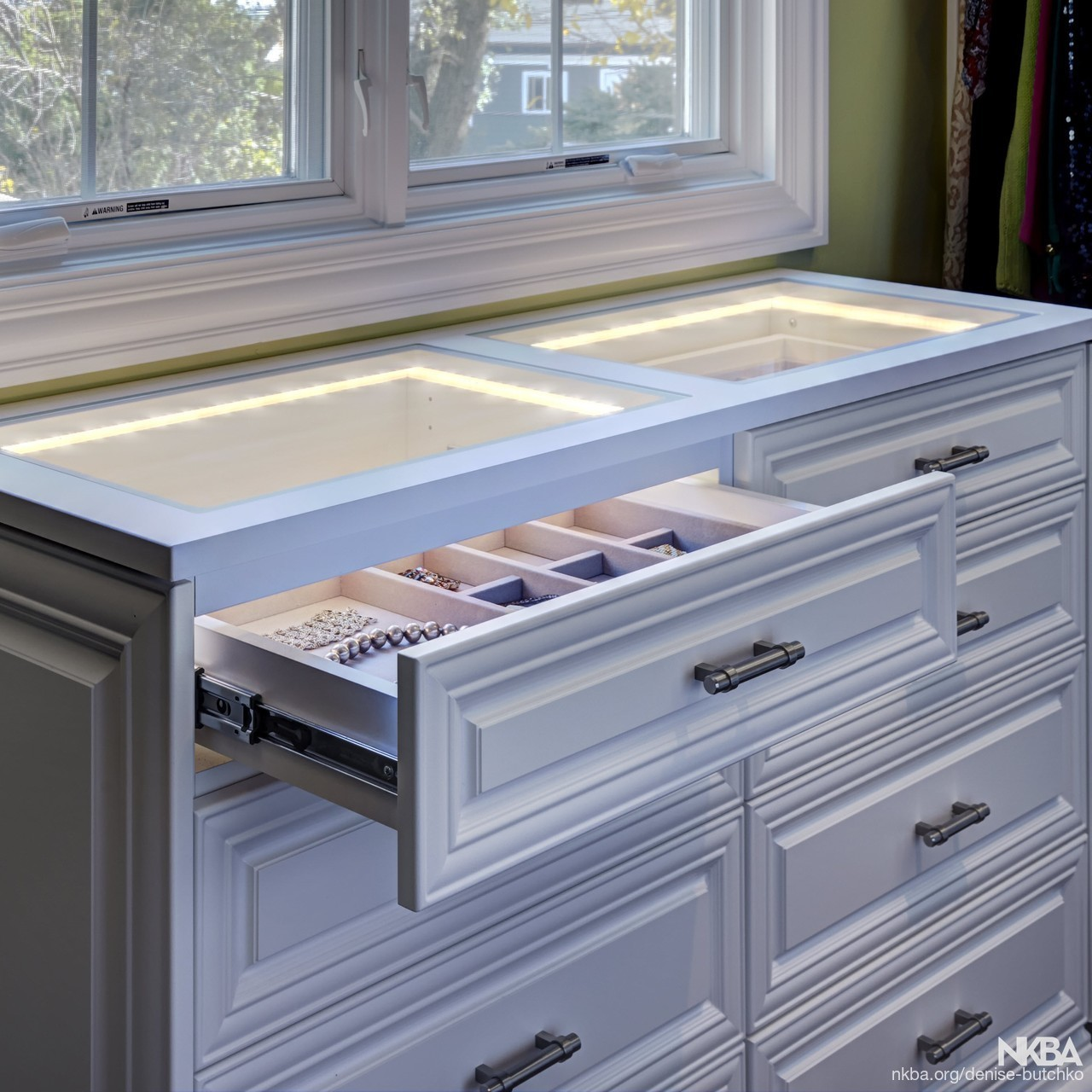 Closet With Lighted Jewelry Drawer Traditional Bath