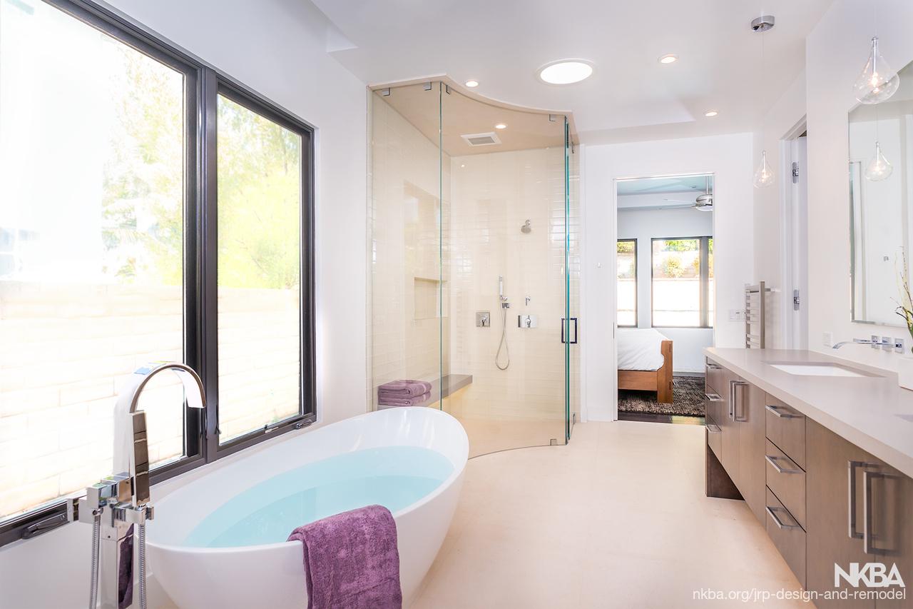 Warm Contemporary Bathroom - NKBA