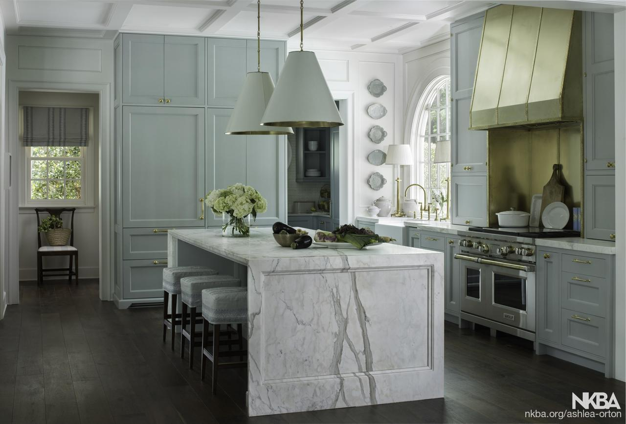Calacatta Gold marble kitchen - NKBA