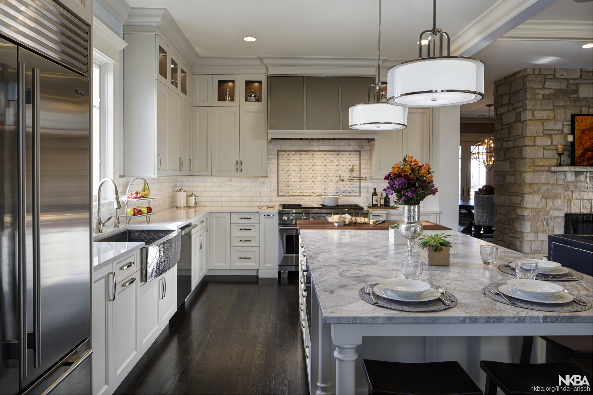 Open Concept Kitchen Featuring Rutt Cabinetry   NKBA