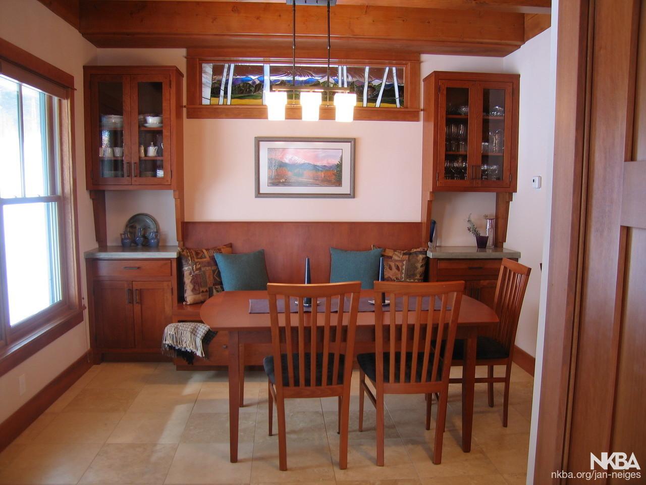 Craftsman style dining area - NKBA