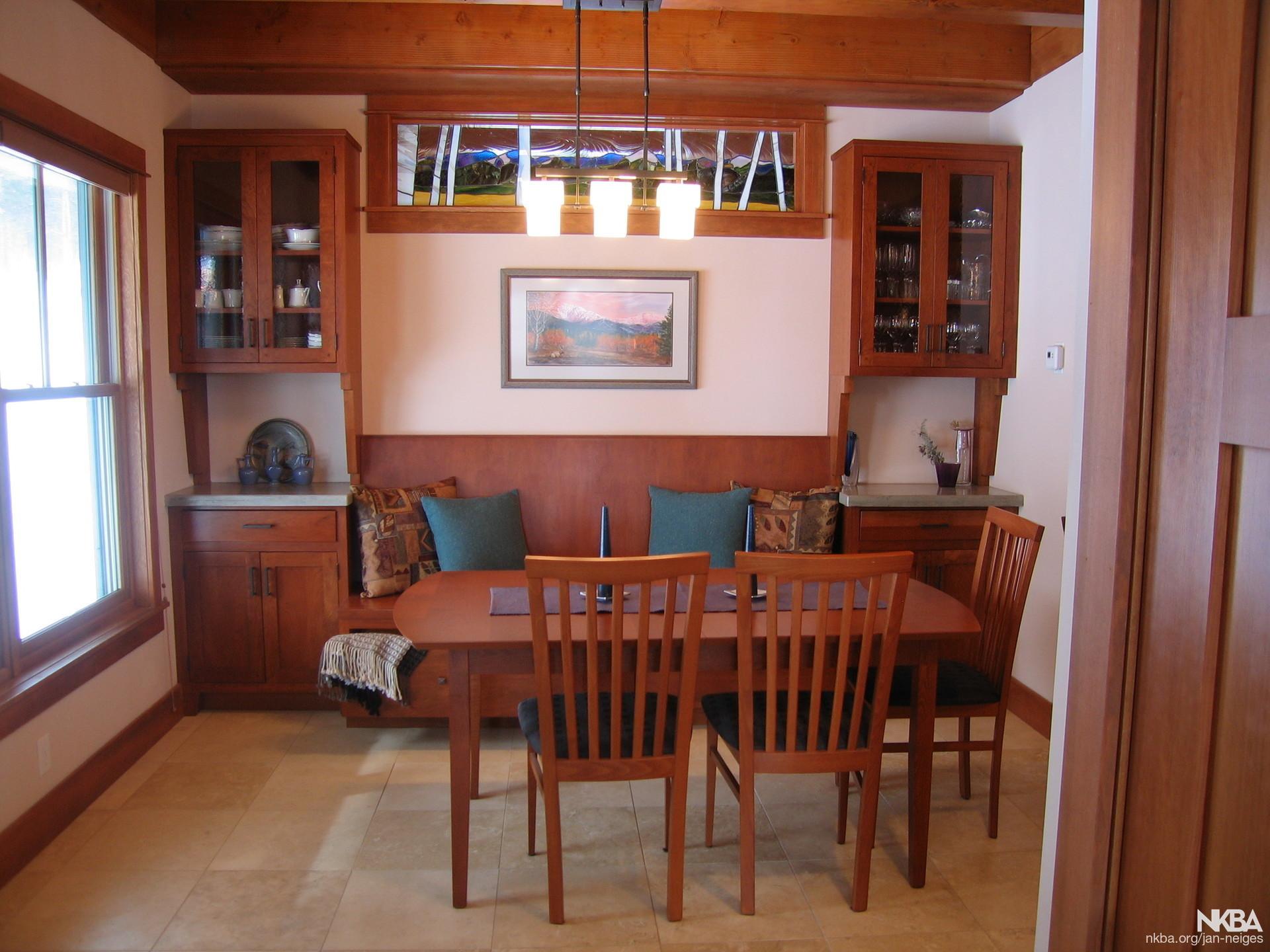 Craftsman style dining area NKBA