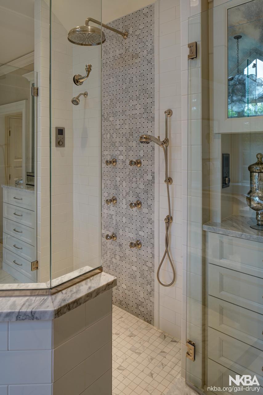 Luxurious Master Bath Design – Barrington Hills - NKBA
