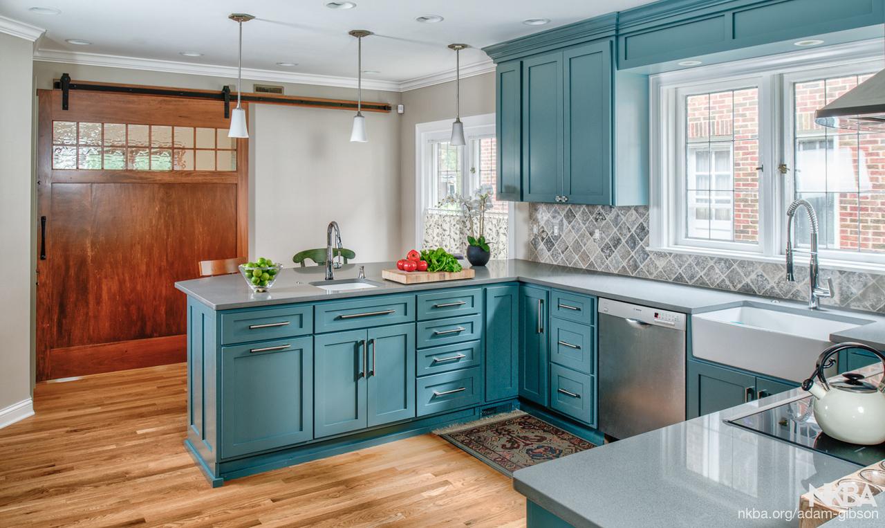 Blue/Green Kitchen - NKBA