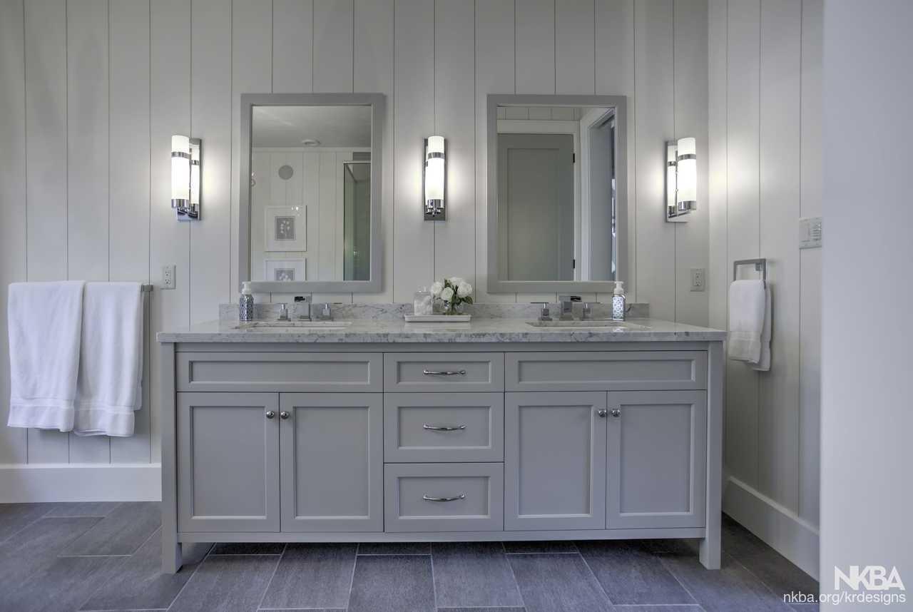 Karin Ross Designs Freestanding Vanity In Master Bathroom Nkba