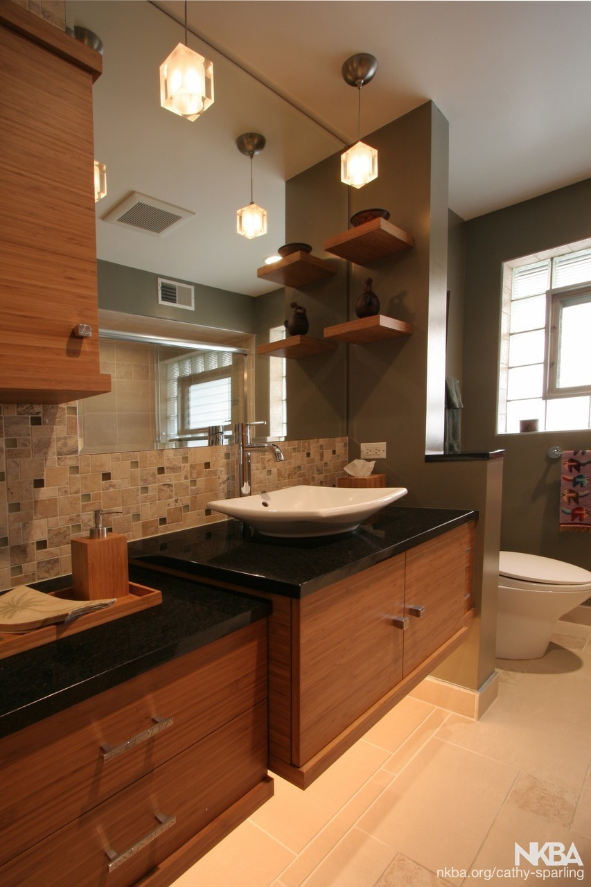 Chicago Home Meets Transitional   Asian/Zen   Bath