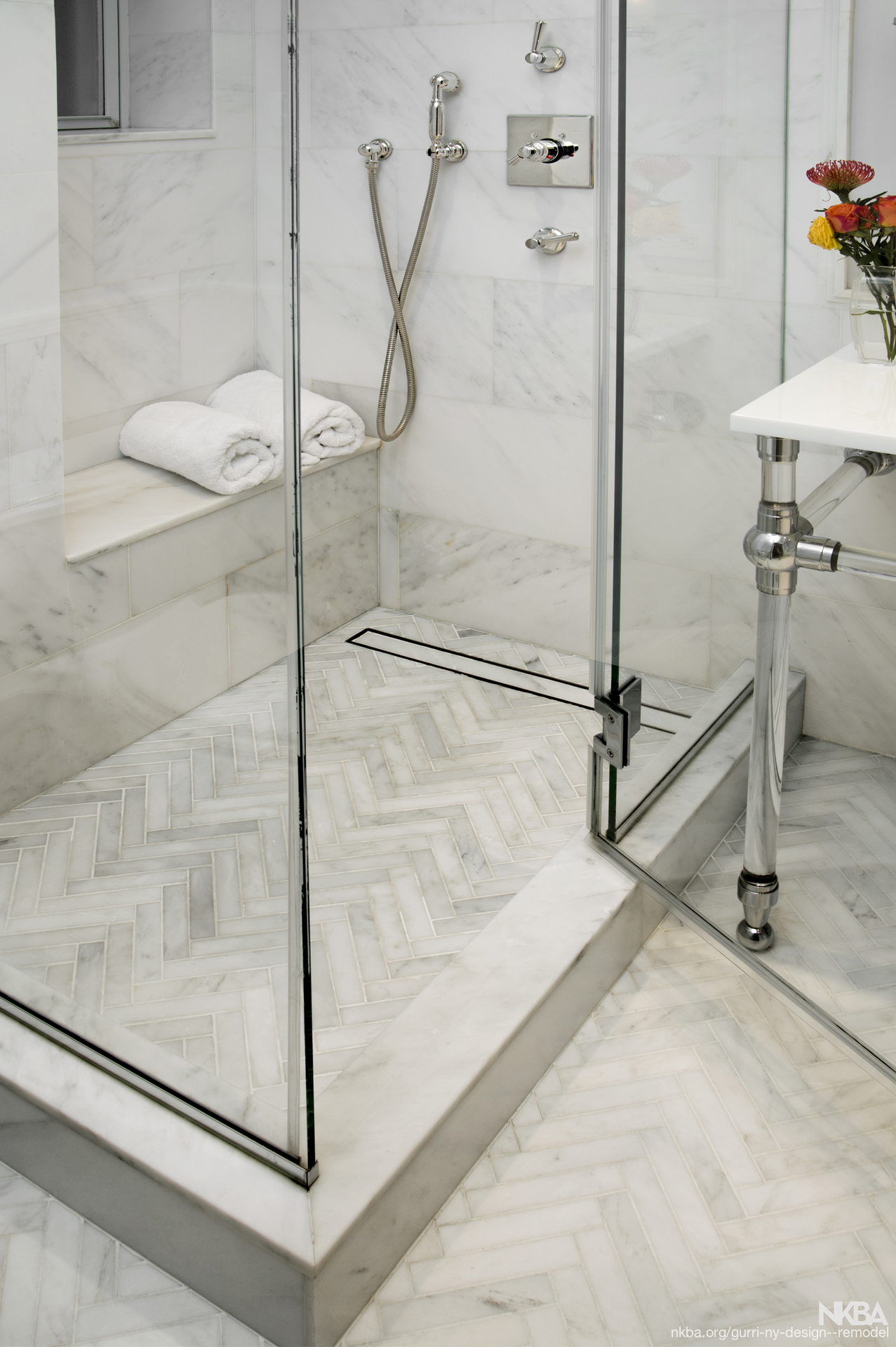 Sleek Modern Shower Nkba
