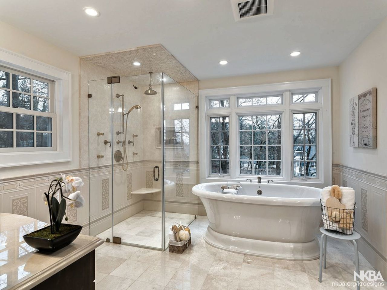 Karin Ross Designs   Walk In Shower   Traditional   Bath