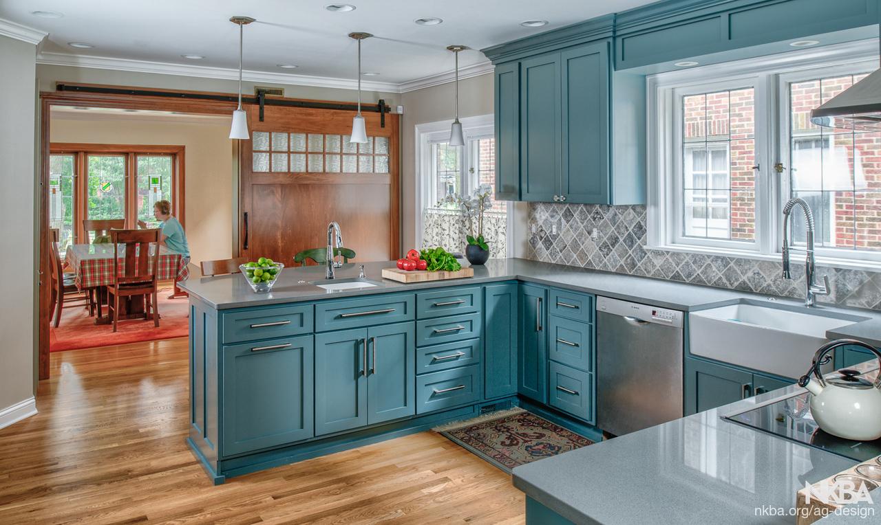 Blue/Green Kitchen 2 - NKBA