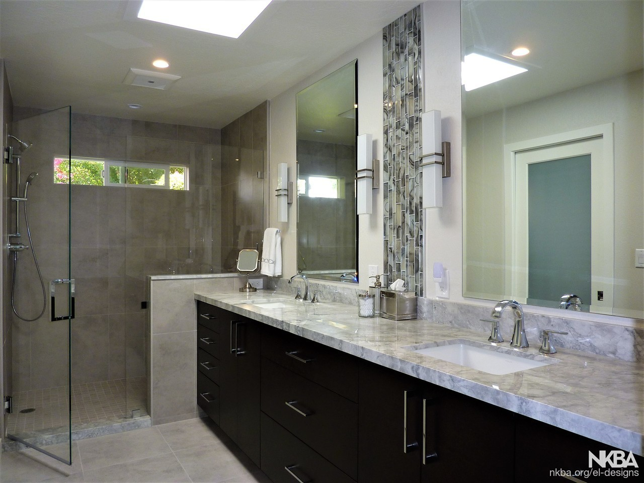 Gorgeous Gray Master Bath Nkba
