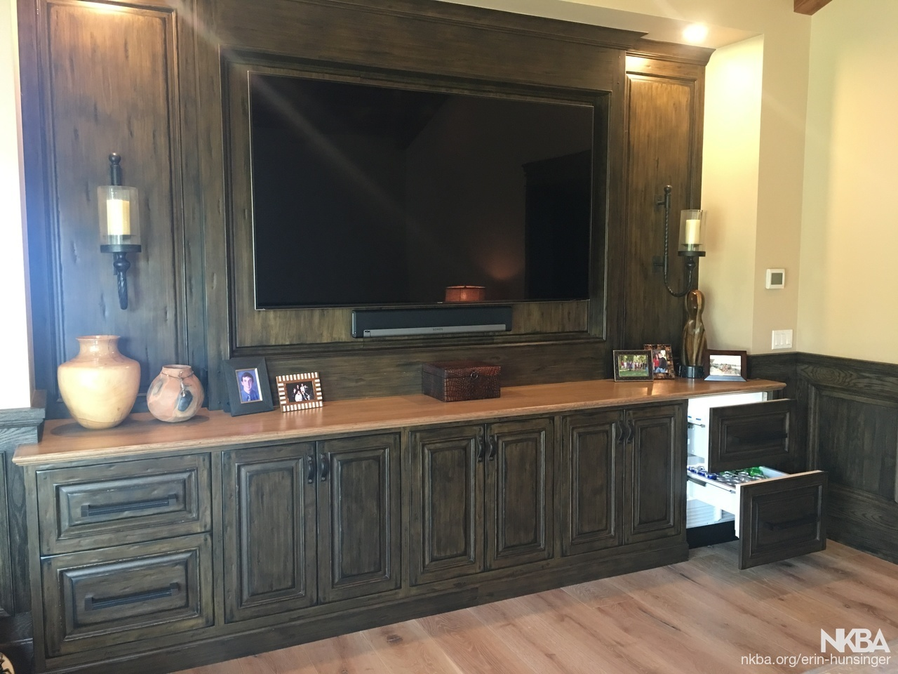 Man Cave Media Cabinet Transitional Kitchen