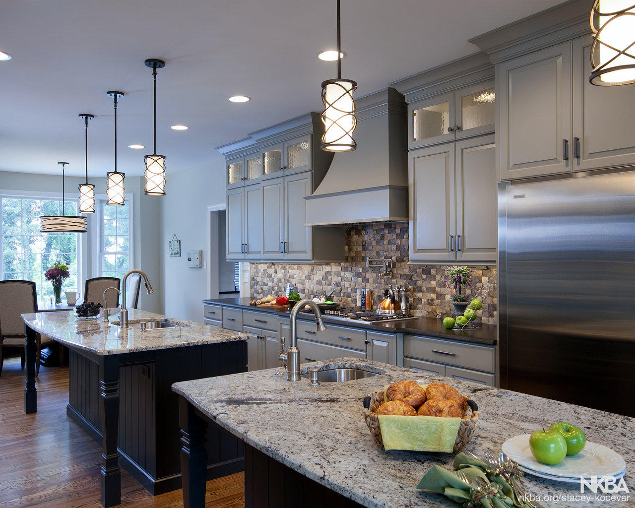Harrisburg transitional double island kitchen transitional kitchen