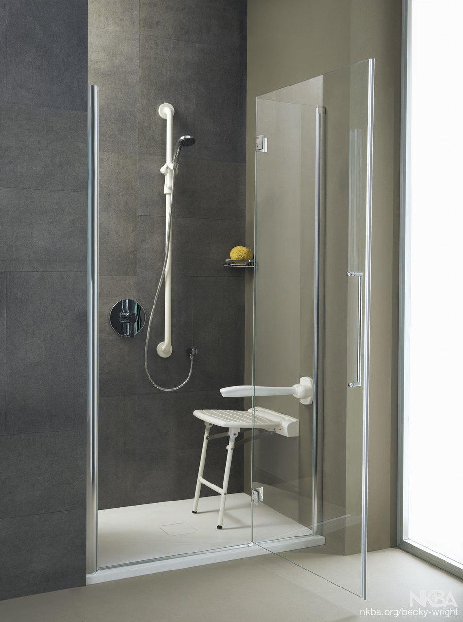 Folding Shower Seat with Legs - NKBA