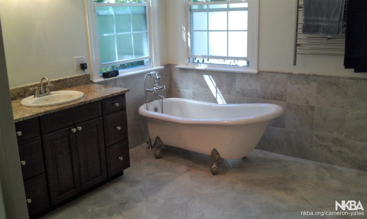 Bathroom Remodel Featuring a Claw Foot Tub - NKBA