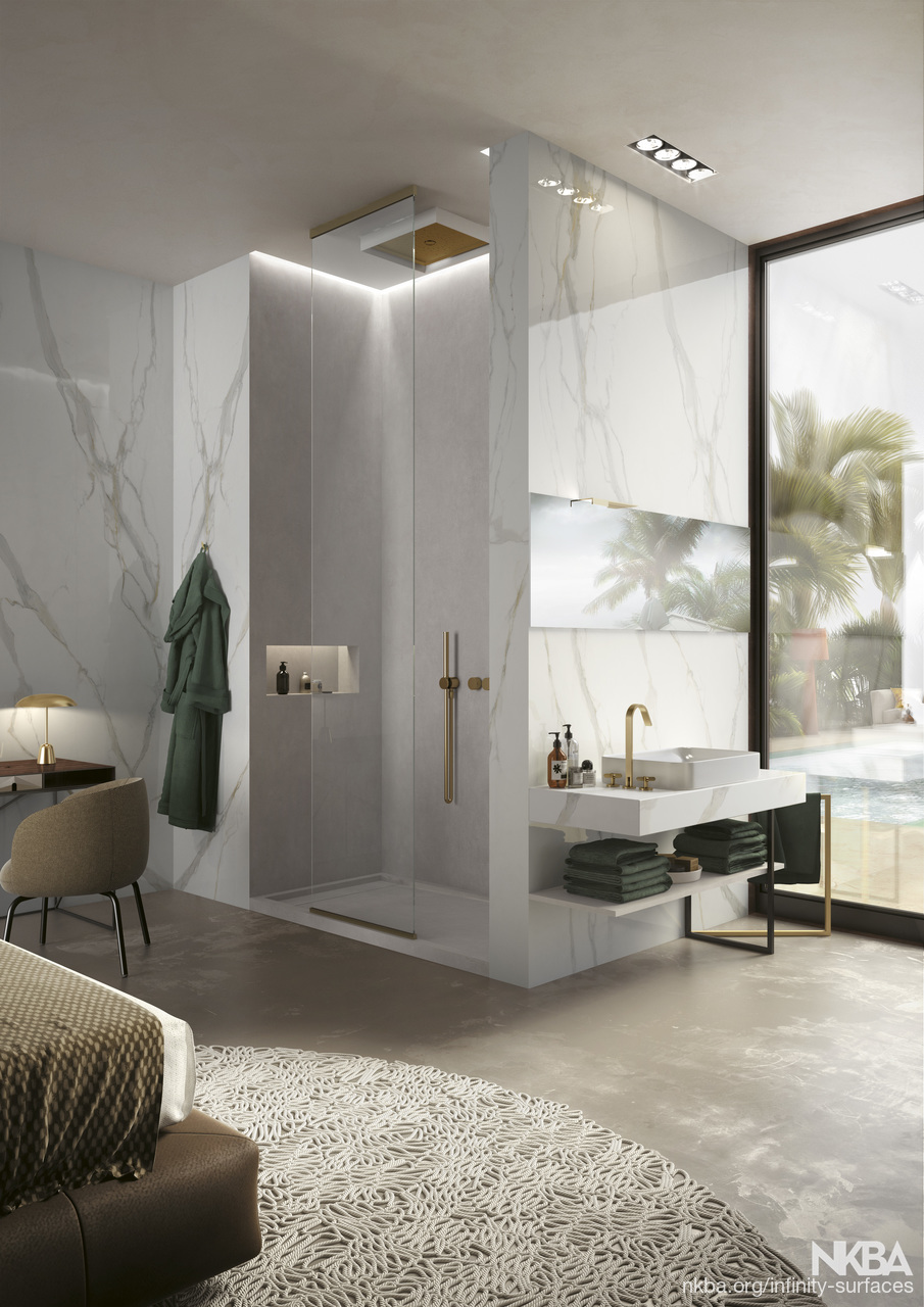 calacatta gold - bathroom