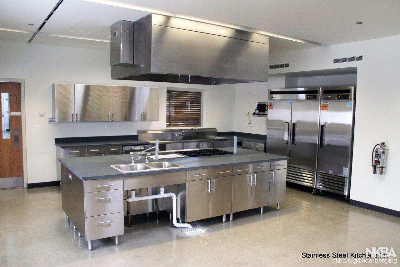 Commercial stainless steel kitchen - NKBA