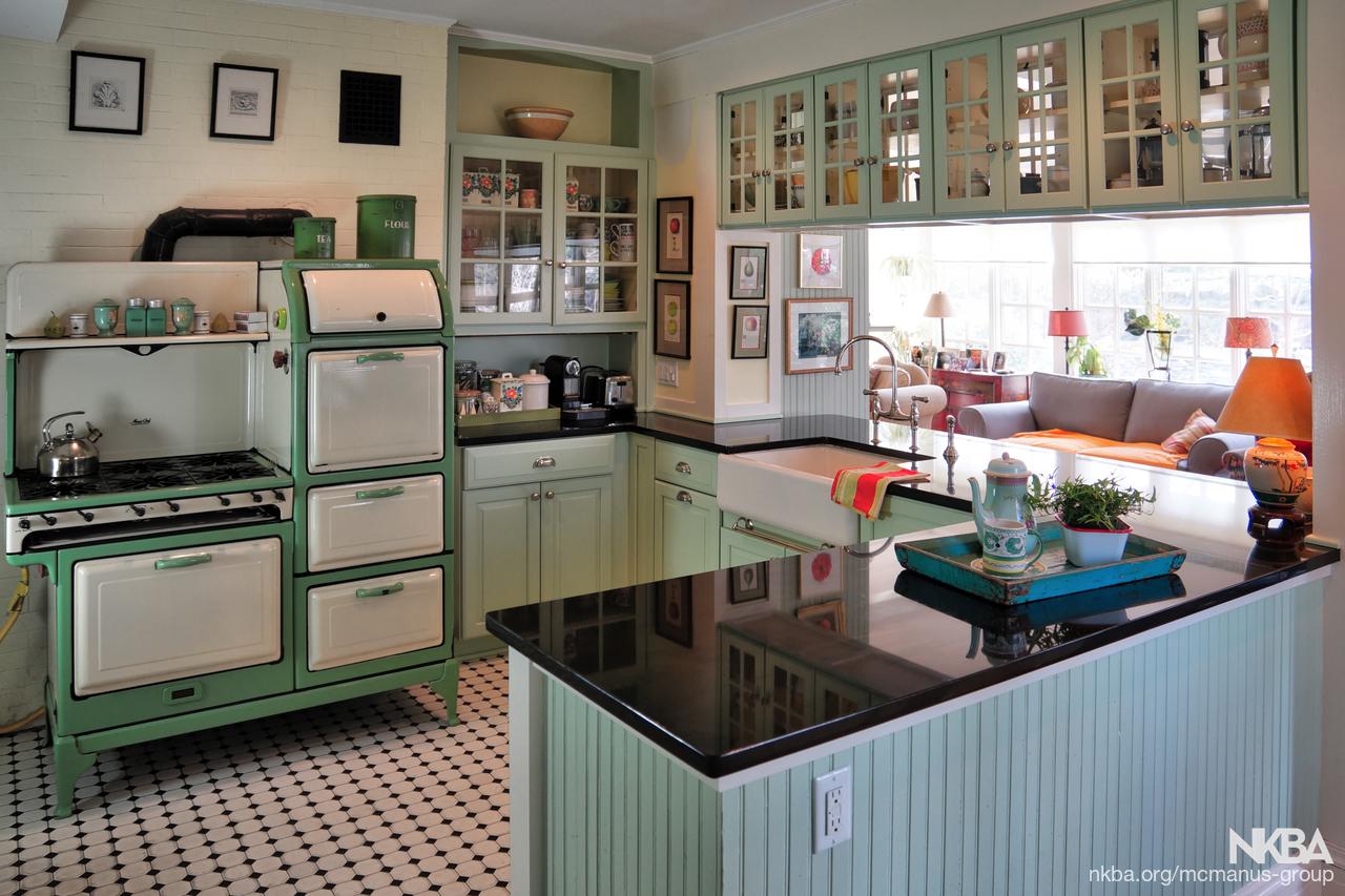 Victorian House Remodeled Kitchen - NKBA