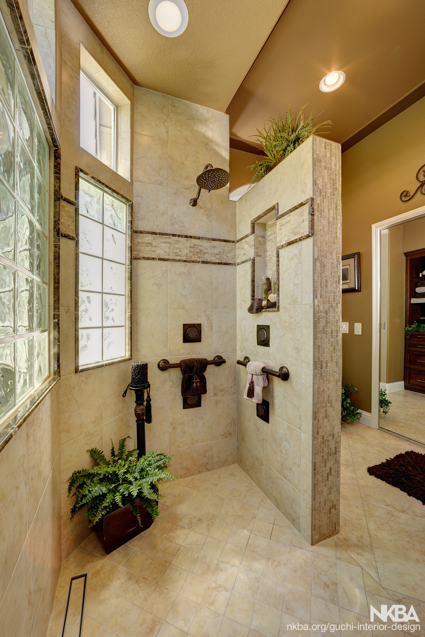 Roseville CA Curb Less Shower   Traditional   Bath
