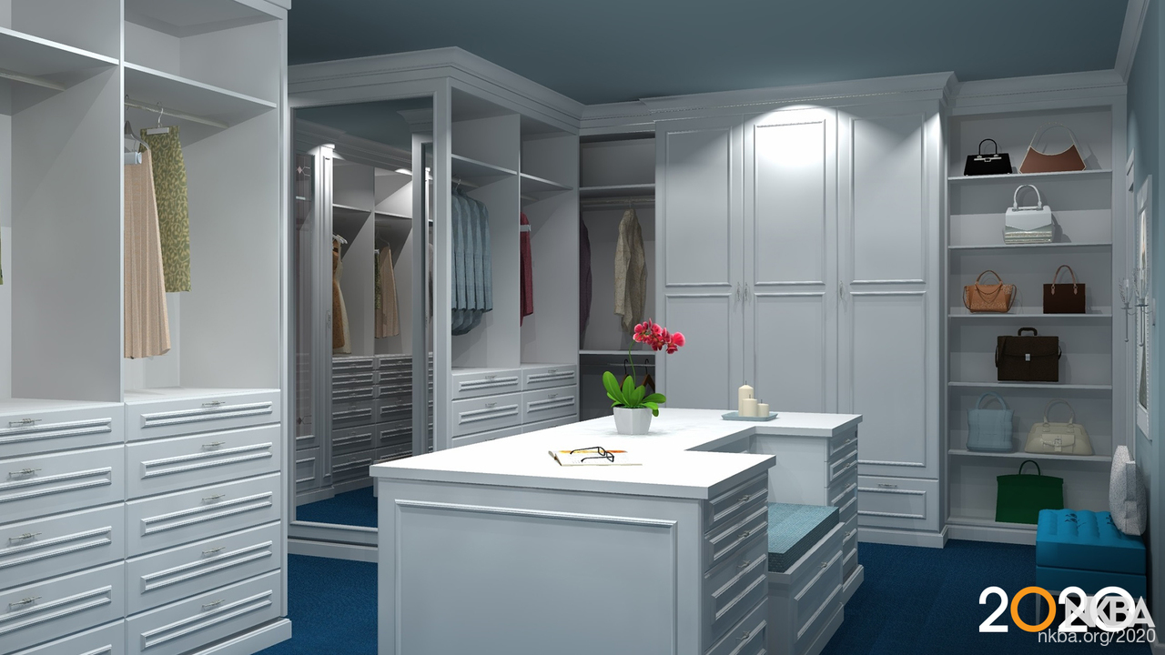 Contemporary Closet Designed With 2020 Design Software Nkba