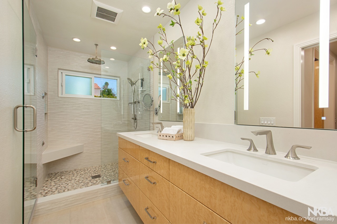 Elegant Contemporary Master Bath - NKBA