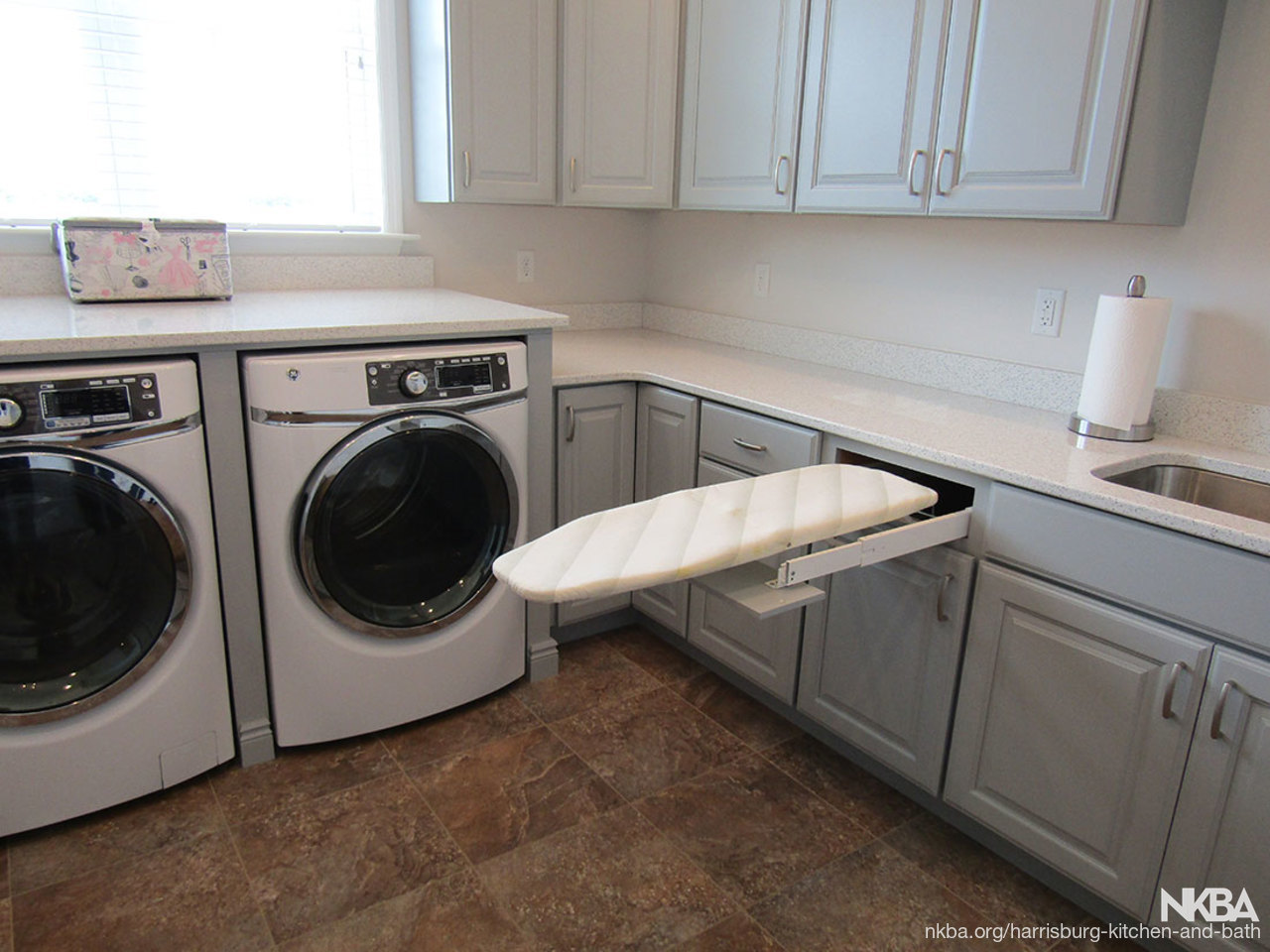 Stylish efficient laundry room l 4 traditional bath