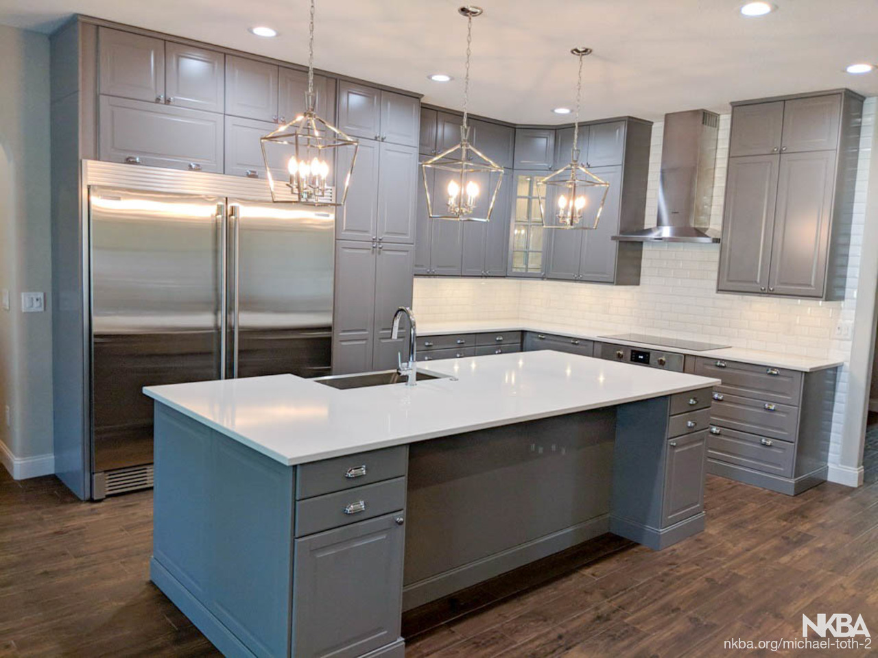 Ikea Kitchen With Bobdyn Gray Doors In Orlando Nkba