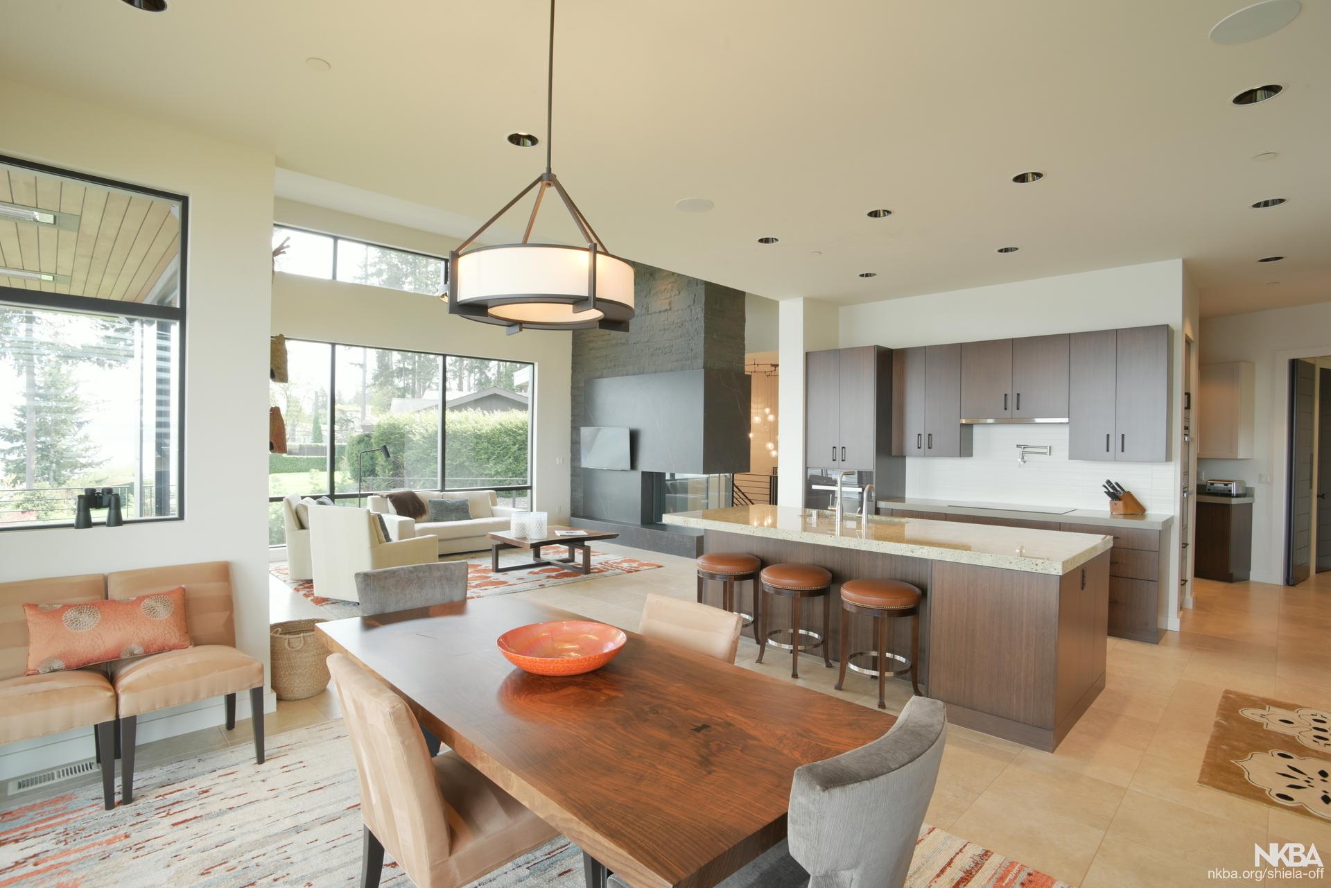 Contemporary Open Concept Kitchen - NKBA