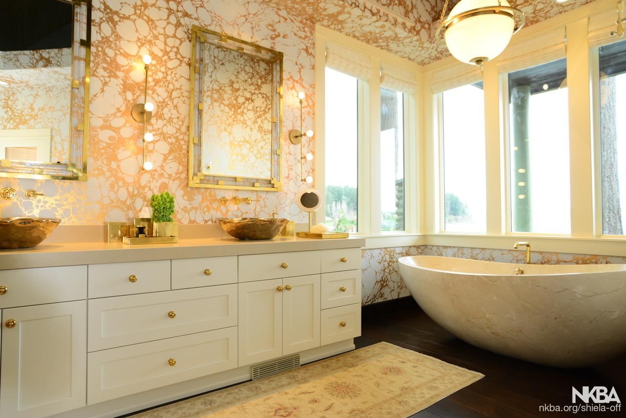 Transitional luxury master bath transitional bath