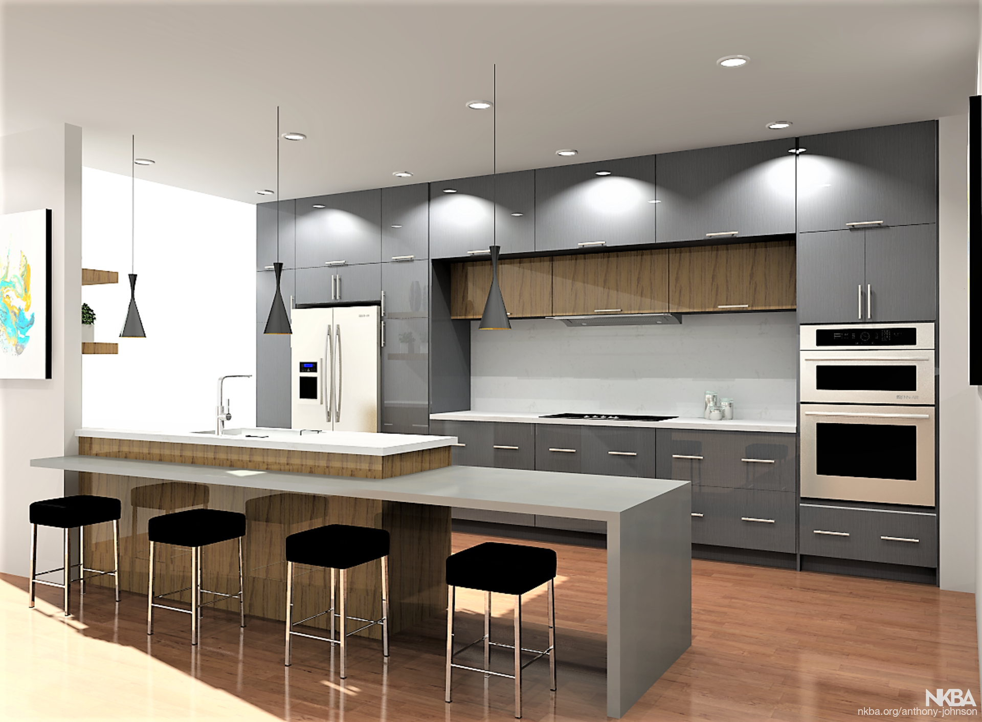 Long Kitchen Island Modern