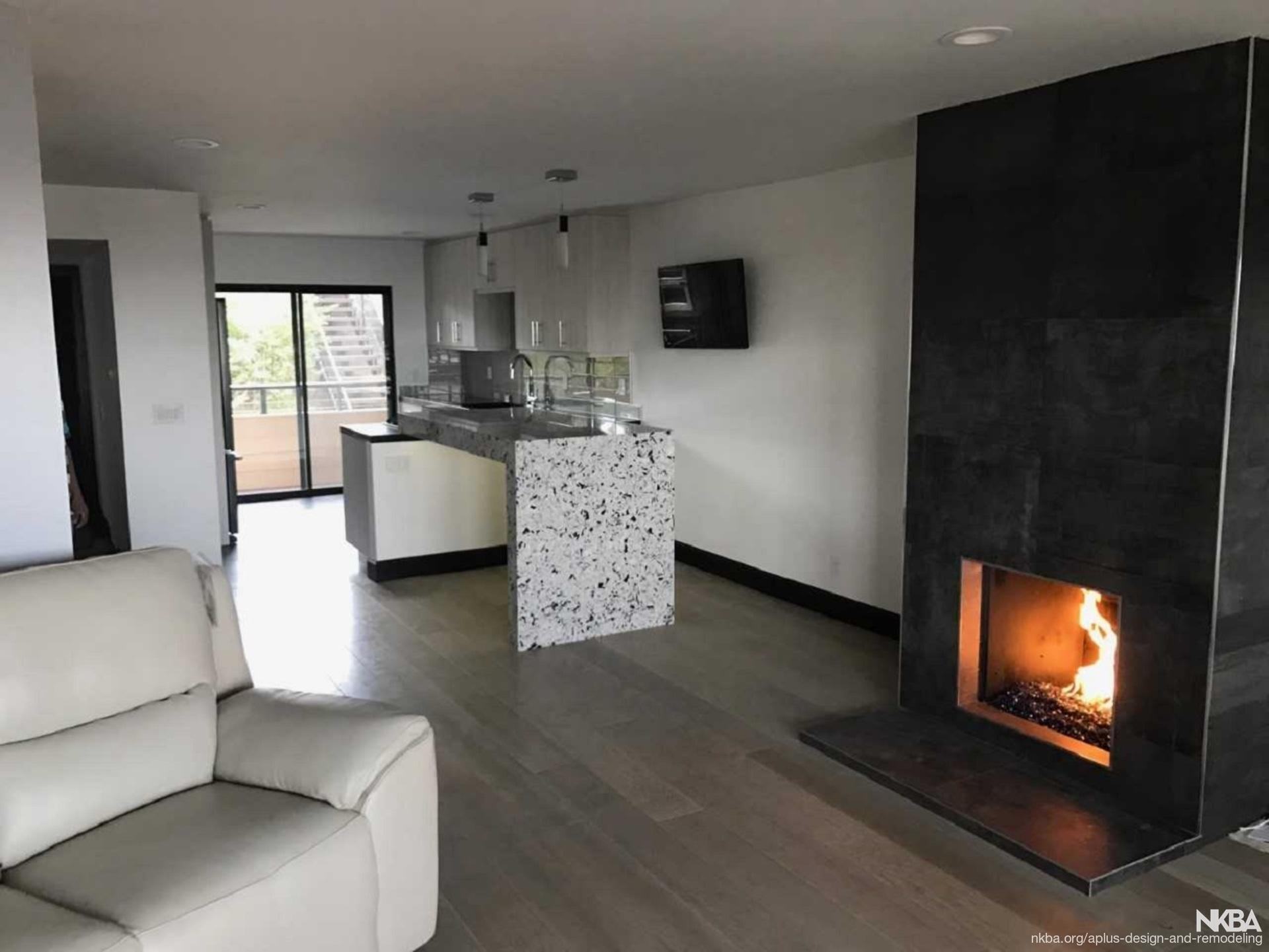 Living Room Kitchen Remodel Nkba
