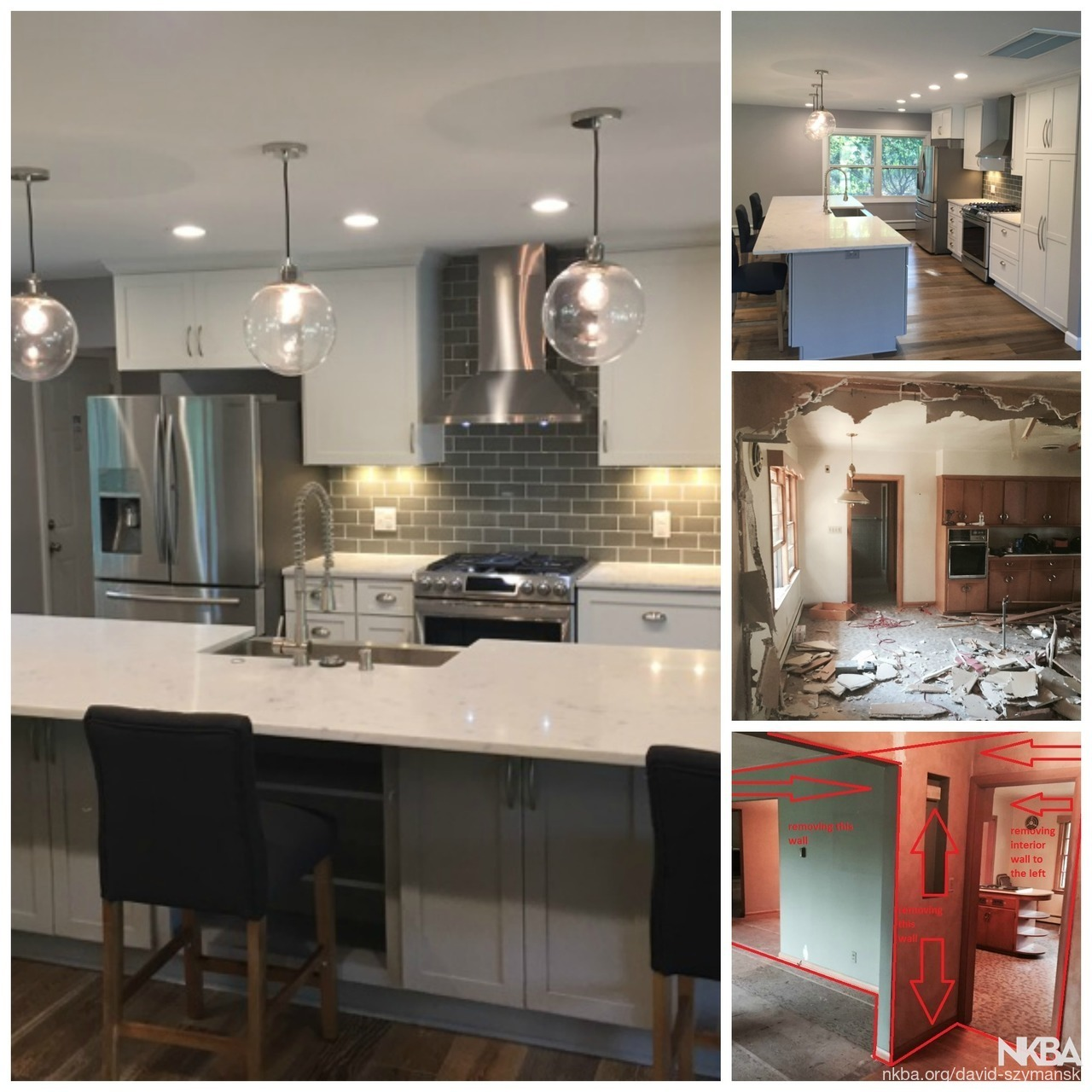 From Dated And Small To Open And Modern Kitchen Remodel Nkba