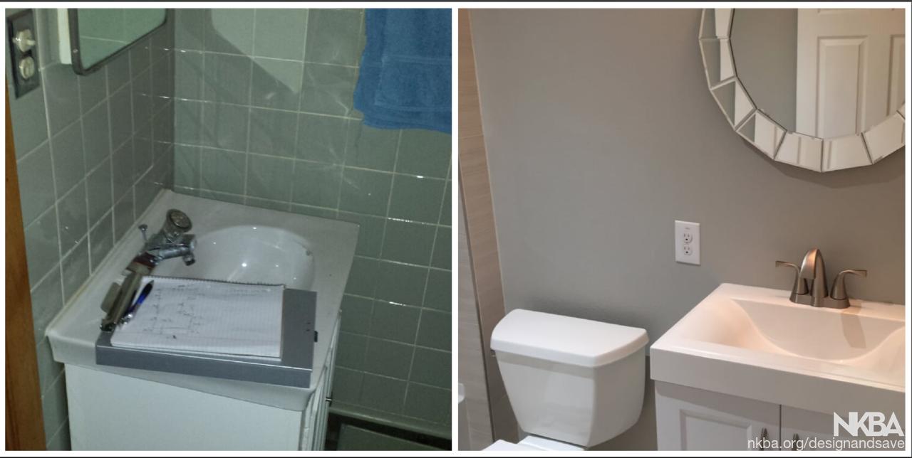 Small Half Bathroom Remodel   Traditional   Bath