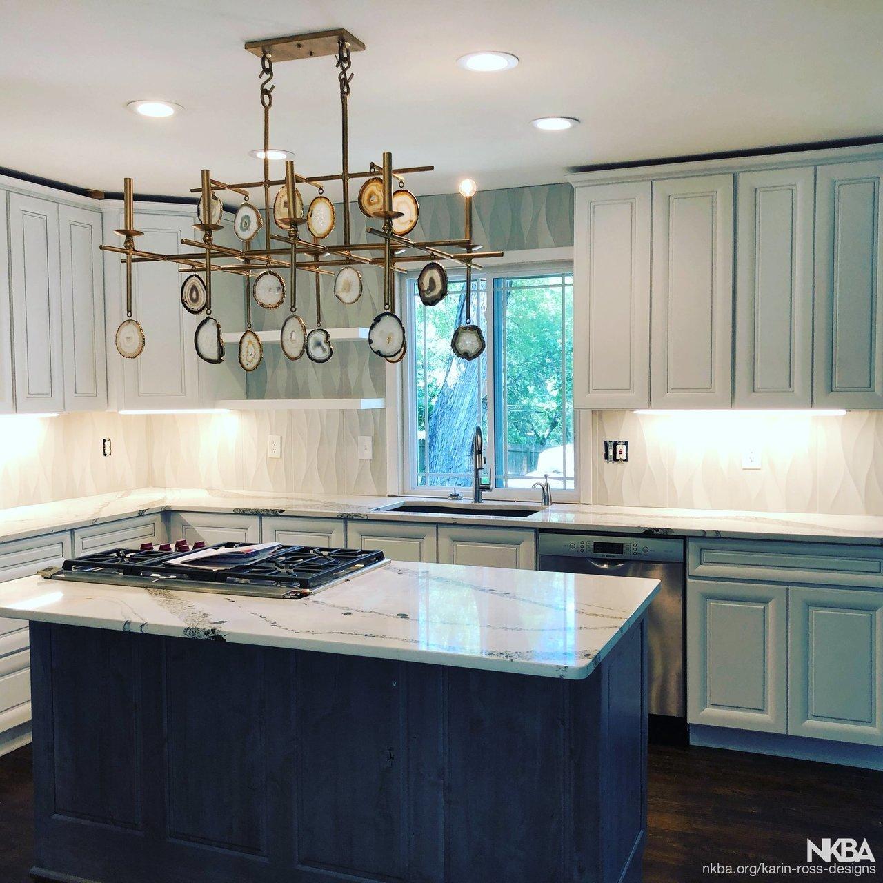 Another stunning kitchen is done by Karin Ross Designs - NKBA
