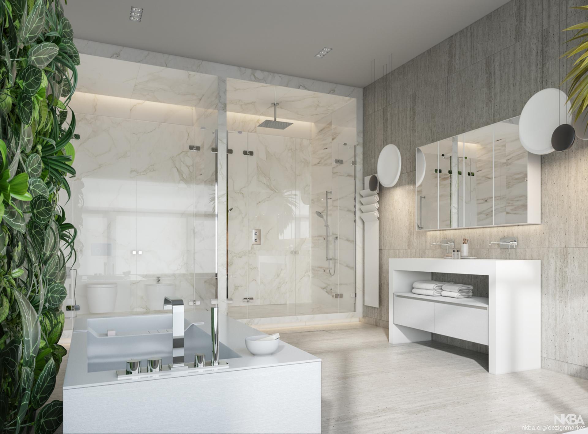 MODERN MASTER BATH DESIGN - NKBA