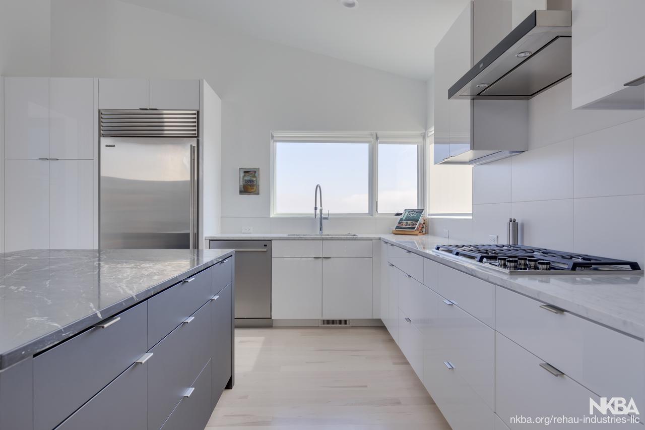 Rehau Gray White Kitchen Nkba