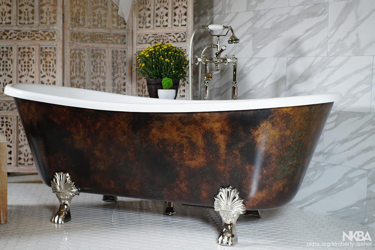 Filipo Aged Copper Clawfoot Tub   NKBA