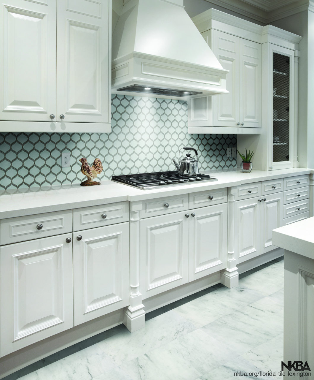 POM Pure White arabesque Mosaic Kitchen Backsplash. - NKBA