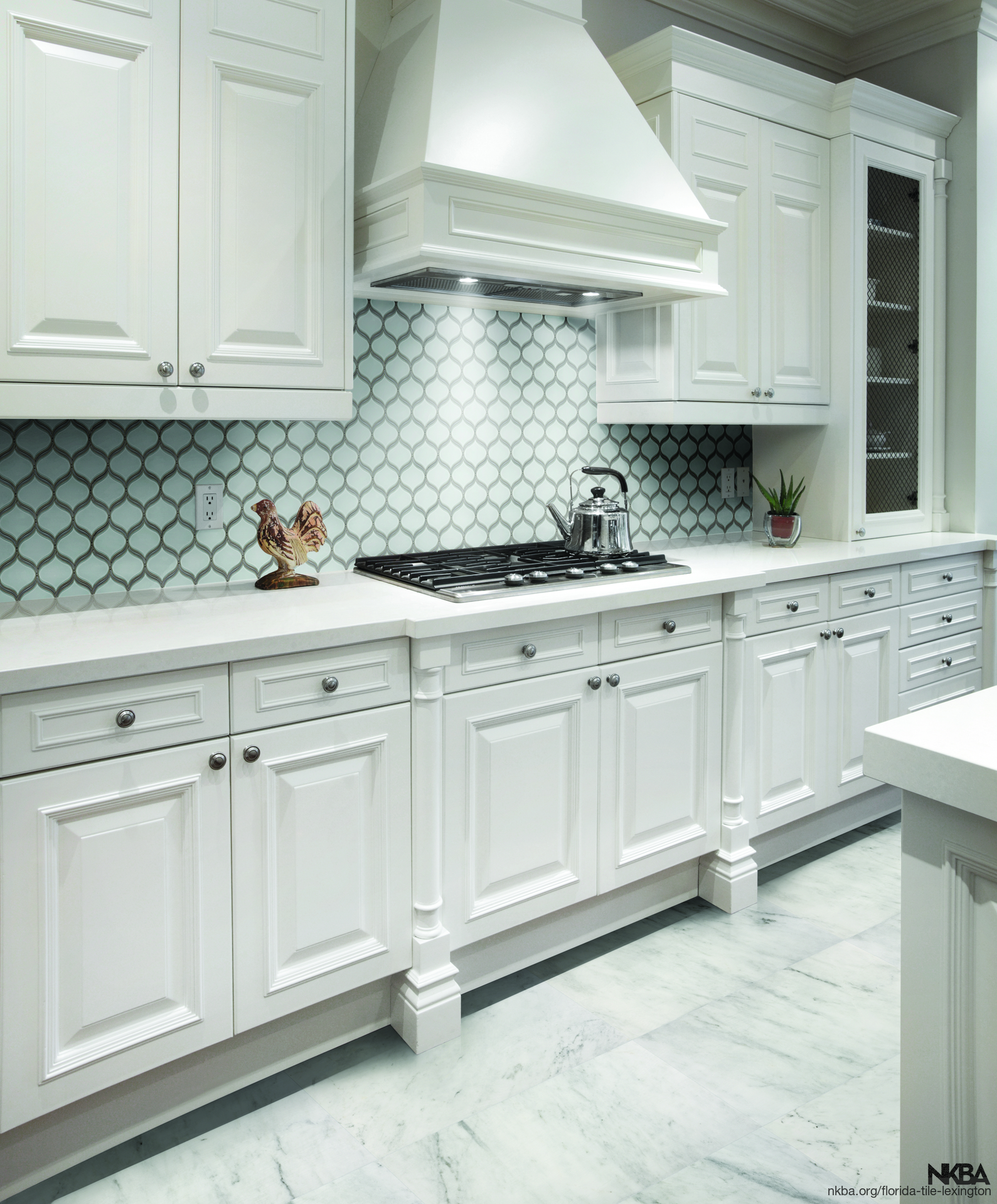 Pom Pure White Arabesque Mosaic Kitchen Backsplash Nkba