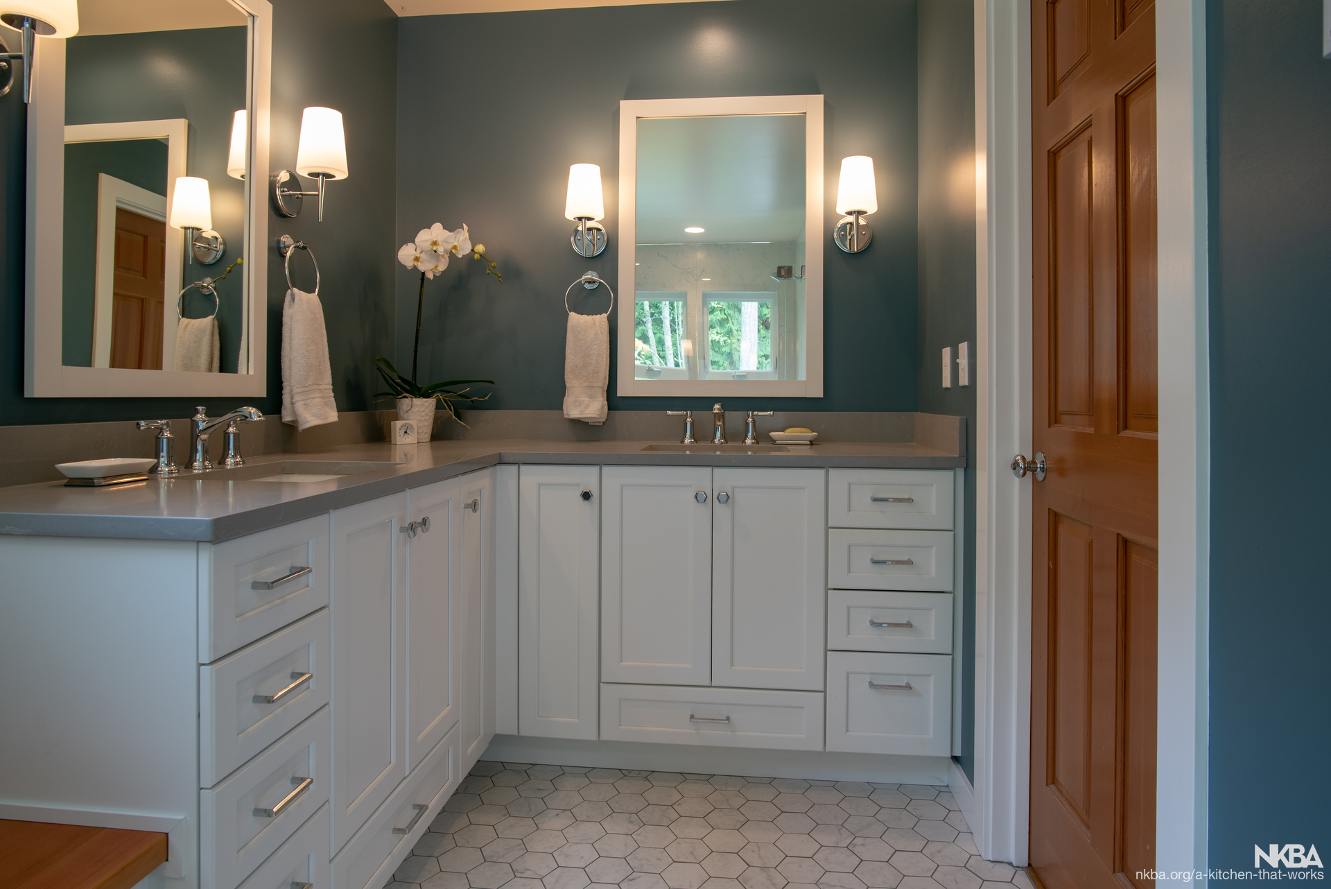 His And Hers Vanity Bath Transitional