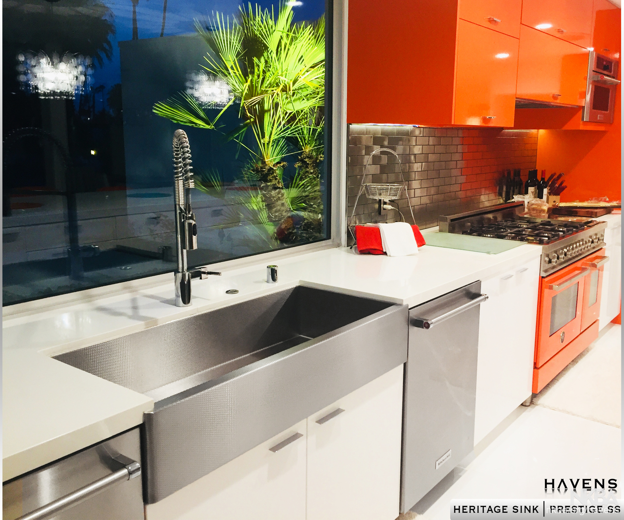 Heritage Stainless Steel Farmhouse Sink