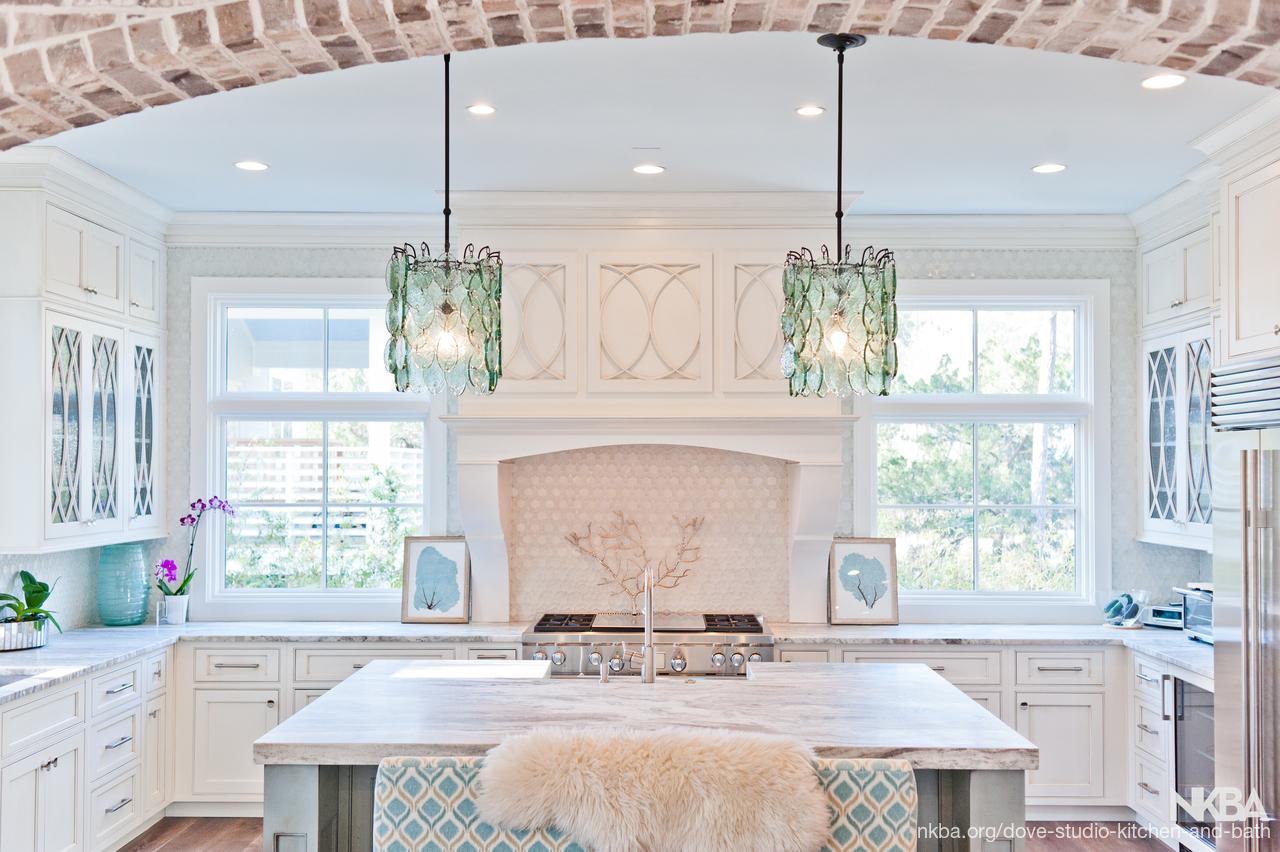 White inset coastal kitchen - NKBA