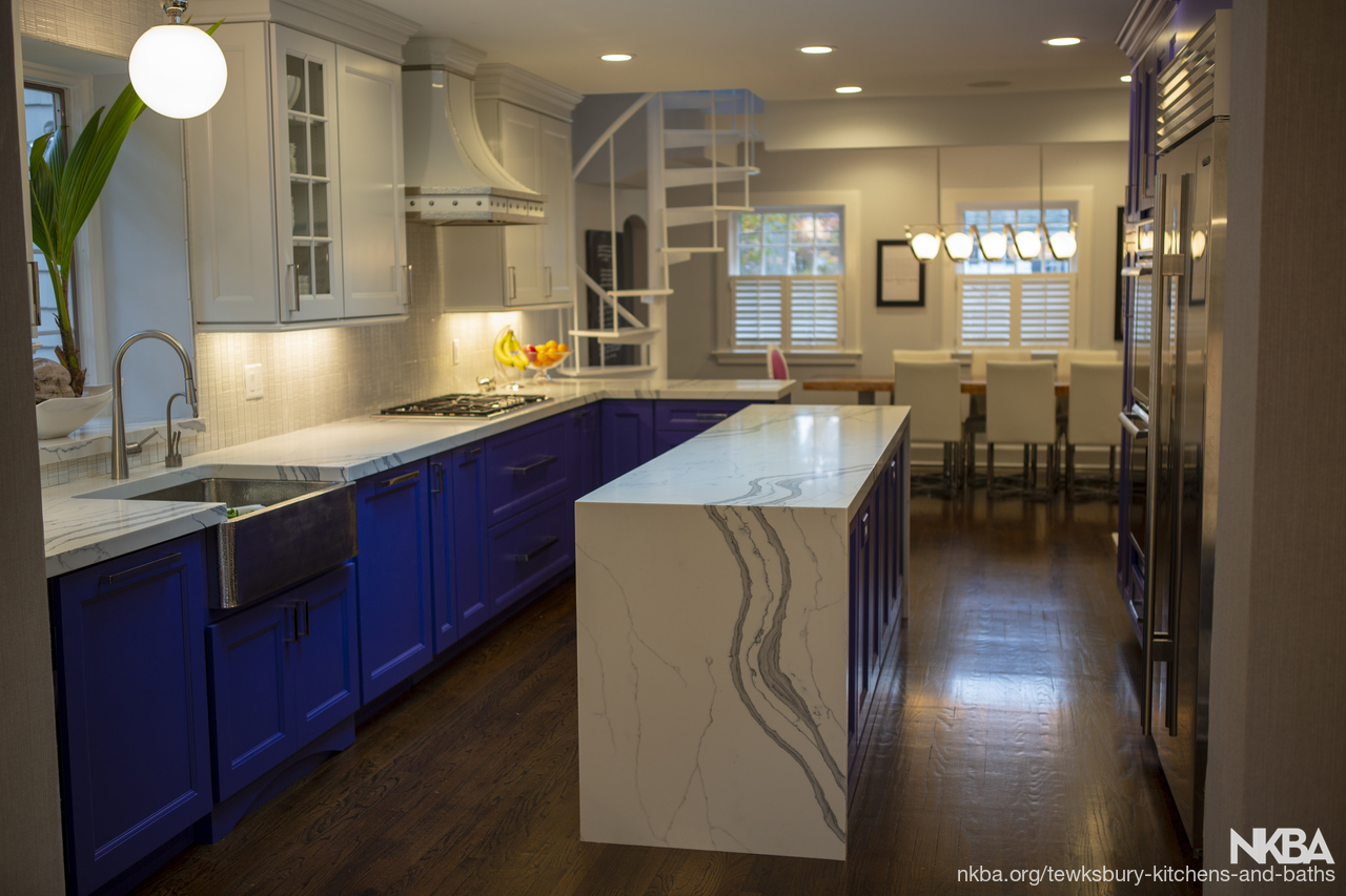 Updated Transitional with a splash of COLOR! - NKBA