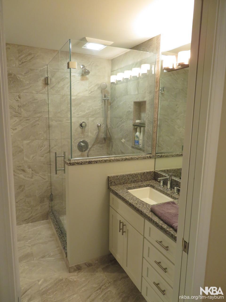 Basement Bathroom Remodel Craftsman Bath
