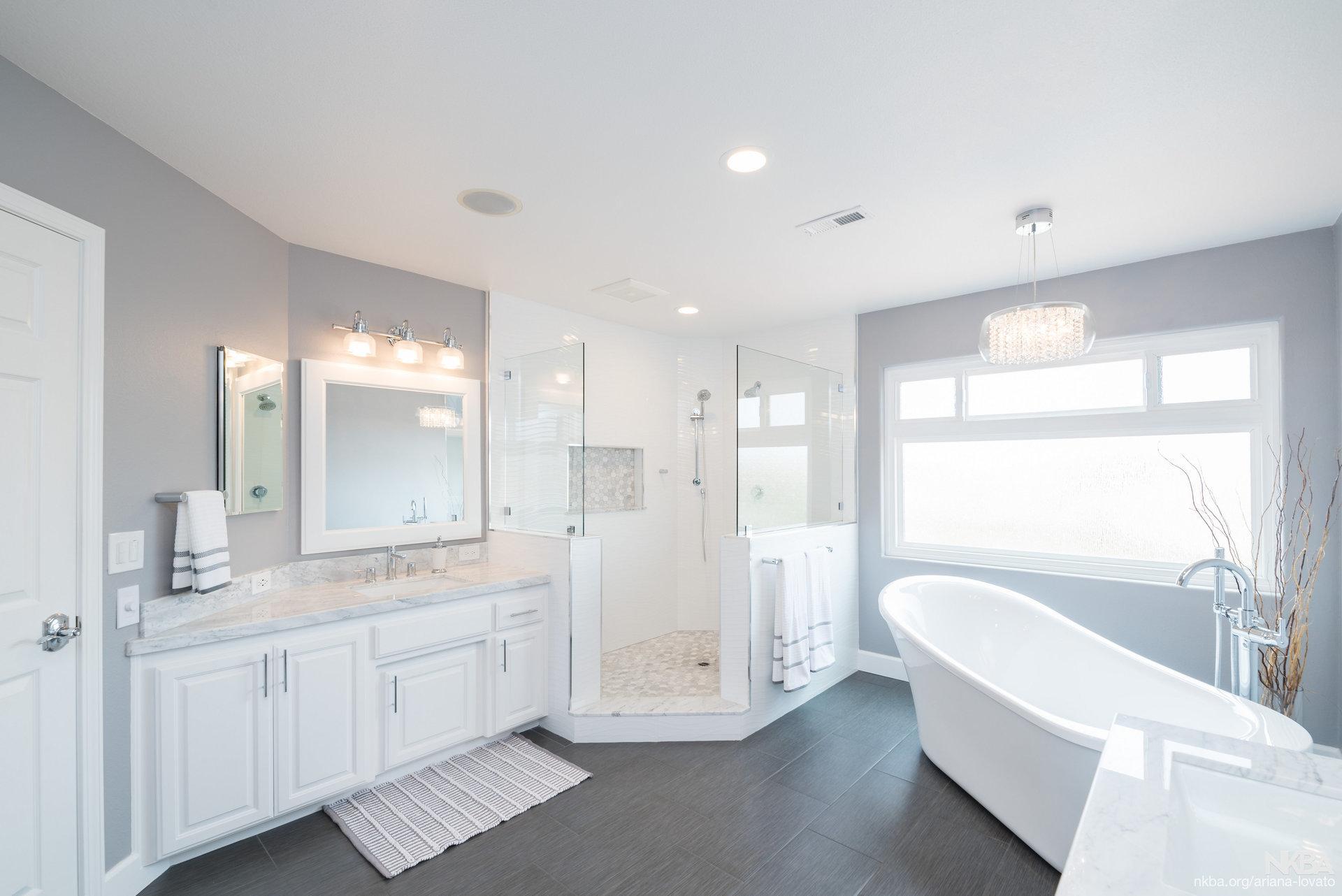 Modern Master Bathroom Remodel - NKBA