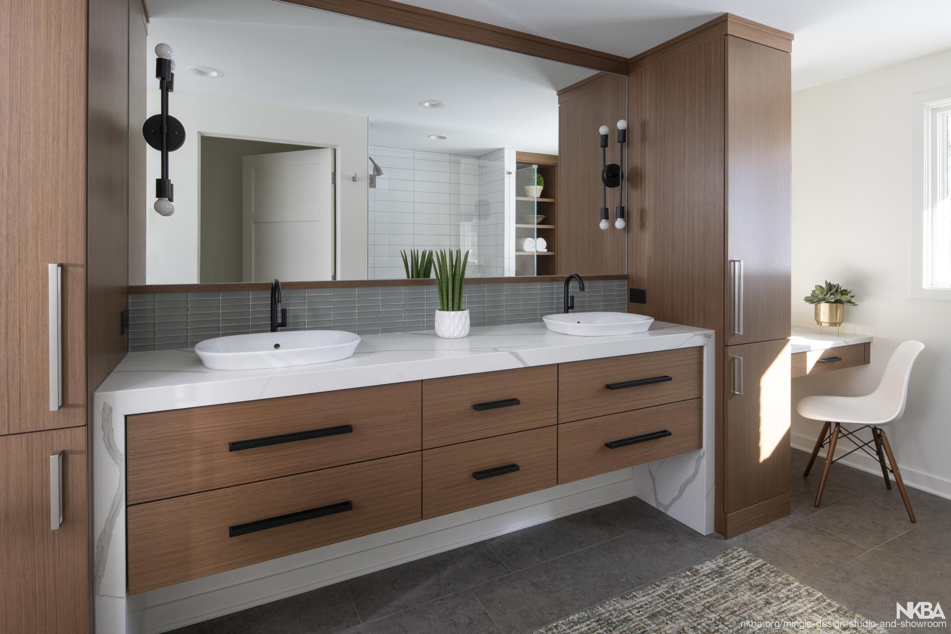 Mid Century Modern Master Bathroom Nkba