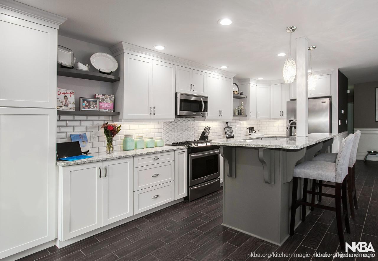 Gray and White Kitchen Remodel - NKBA